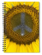 Sunflower Peace Sign Spiral Notebook