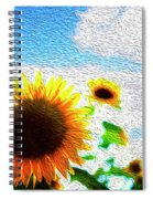 Sunflowers Abstract Spiral Notebook