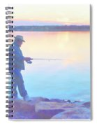 Sunrise Fisherman Spiral Notebook