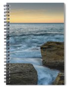 Sunrise On The Rocky Coast Spiral Notebook