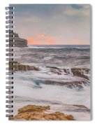 Sunrise Seascape And Headland Spiral Notebook