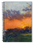 Sunset At Gratwick Waterfront Park Spiral Notebook