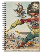 Swallow Destroying The French Army, Spiral Notebook