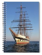 Tall Ship Anchored Off Penzance Spiral Notebook