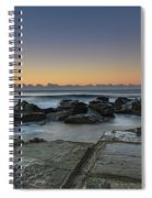 Tessellated Rock Platform And Seascape Spiral Notebook