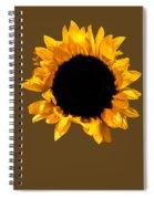 Sunflower Stretching On Brown Spiral Notebook