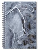 Texture Of Ice Spiral Notebook