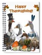 Thanksgiving Ducks Spiral Notebook