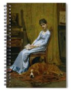 The Artist's Wife And His Setter Dog Spiral Notebook