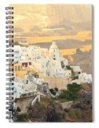 The Golden Hour In Fira Spiral Notebook
