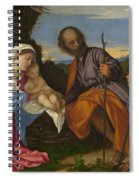 The Holy Family With A Shepherd Spiral Notebook