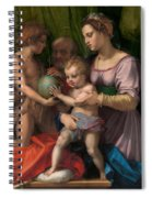 The Holy Family With The Young Saint John The Baptist Spiral Notebook