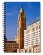 The Leveque Tower Of Columbus Ohio Spiral Notebook