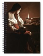 The Magdalen With The Smoking Flame Spiral Notebook