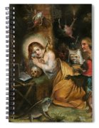The Penitent Mary Magdalene Visited By The Seven Deadly Sins Spiral Notebook