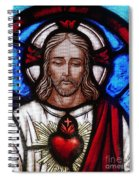 The Sacred Heart Of Jesus Spiral Notebook