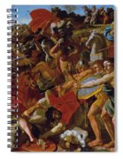 The Victory Of Joshua Over The Amalekites Spiral Notebook