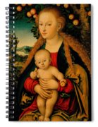 The Virgin And Child Under An Apple Tree Spiral Notebook