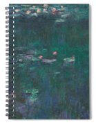 The Water Lilies, Green Reflections Spiral Notebook