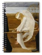 The Wounded Angel Spiral Notebook