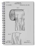 Toilet Paper Roll Patent 1891 Spiral Notebook