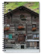 Traditional Swiss Alps Houses In Vals Village Alpine Switzerland Spiral Notebook