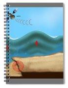 Tsunami Warning Diagram Spiral Notebook