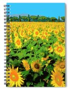 Tuscany Sunflowers Spiral Notebook