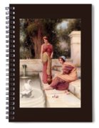 Two Classical Maidens And A Swan Henry Ryland Spiral Notebook