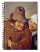 Two Peasants With A Glass Of Wine Spiral Notebook