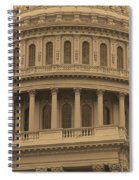 United States Capitol Building Sepia Spiral Notebook