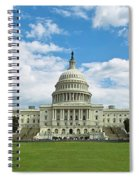 Us Capitol Washington Dc Negative Spiral Notebook