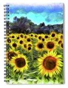 Van Gogh Sunflowers Spiral Notebook