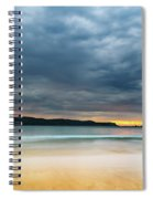 Vibrant Cloudy Sunrise Seascape Spiral Notebook
