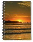 Vibrant Orange Sunrise Seascape Spiral Notebook