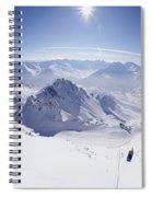 View From Summit Of Valluga, St Saint Anton Am Arlberg Austria Spiral Notebook