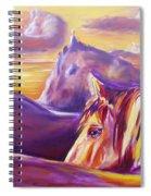 Horse World Spiral Notebook