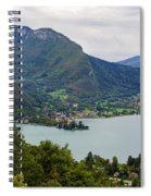 Village Of Talloires On The Banks Of Lake Annecy Spiral Notebook