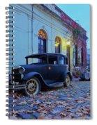 Vintage Cars In Colonia Del Sacramento, Uruguay Spiral Notebook