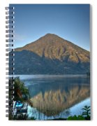 Volcano And Reflection Lake Atitlan Guatemala Spiral Notebook