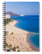 Waikiki Beach And Diamond Head Spiral Notebook
