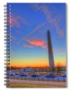 Washington Monument Sunset Spiral Notebook