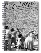 We The People Signing Bicentennial Of The Constitution Tucson Arizona 1987 Spiral Notebook