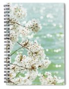 White Cherry Blossoms Trees Spiral Notebook