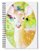 White-tailed Virginia Deer Fawn Spiral Notebook