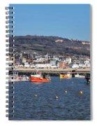 Winter Harbour - Lyme Regis Spiral Notebook