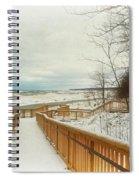 Winter Ice On Lake Michigan Spiral Notebook