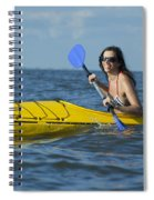 Woman Kayaking Spiral Notebook