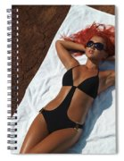 Woman Sunbathing Spiral Notebook