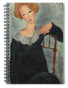 Woman With Red Hair Spiral Notebook